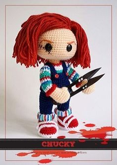 Free Pattern for Crochet Chucky Amigurumi.