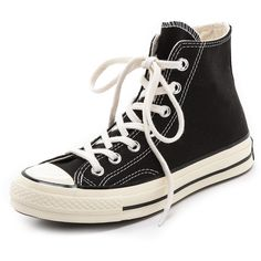 Converse All Star '70s High Top Sneakers (110 CAD) ❤ liked on Polyvore featuring shoes, sneakers, converse, sapatos, zapatos, black, converse sneakers, high top shoes, lace up high top sneakers and converse trainers