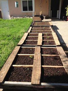 Pallet garden! Easiest way to make a raised bed garden