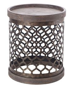 Another great find on #zulily! Perforated Metal Drum Table #zulilyfinds