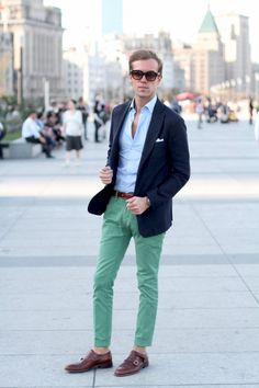 Monk Strap and Green Chino
