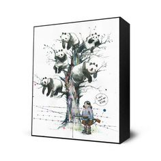 Panda Tree Mini Art Block, $28, now featured on Fab. I really want this one too!