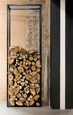 A light and transparent design for a storage place for firewood – All For Garden Indoor Firewood Rack, Log Holder, Wood Shed, Storage Places, Wood Working For Beginners, Wood Projects, Pergola, Interior, Transparent Design