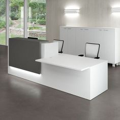 Modern New Design Artificial Stone Office Reception Desk Small Reception Desk, Reception Desk Design, Reception Counter, Office Reception Desks, Dental Reception, Reception Table, Bureau Design, Cabinet Design, Front Office