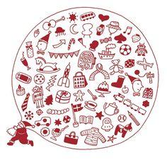 """サノマキコ on Instagram: """"『クリスマスまであと2日😆🎁🎄』 (bulbs株式会社 2013年クリスマスグリーティングカード)  #サノマキコ #イラスト #イラストレーター #illustration  #illustrator #クリスマス #christmas #クリスマスイラスト  #サンタ…"""" Decorative Plates, Bulb, Illustration, Cards, Instagram, Onions, Illustrations, Maps, Light Bulb"""