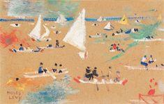 """Moses Levy (Tunisi 1885-Viareggio1968),  """"Navigando nel Mediterraneo""""  gouache su cartone dimensioni: 11 x 17.5 cm.   Voir les résultats denchères passées pour MosesLevy sur artnet"""