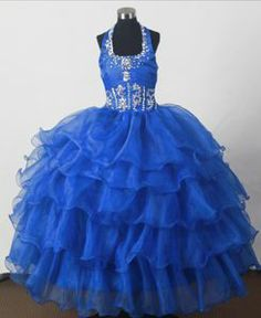 Flower Girl Dresses online shop offers Perfect Beading Ball Gown Halter Top Floor length Little Girl Pagant Dress features halter top neckline Ball Gowns in blue color,floor length organza dress with zipper back and train for party . Beauty Pageant Dresses, Pagent Dresses, Little Girl Pageant Dresses, Dama Dresses, Royal Blue Prom Dresses, Pageant Gowns, Quinceanera Dresses, Party Dresses, Dresses 2014