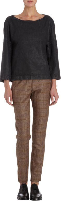 Dries Van Noten Glen Plaid Trousers