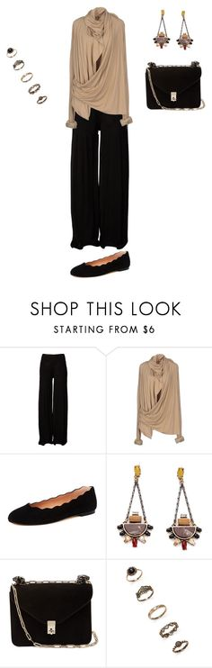 """""""Untitled #1124"""" by elenekhurtsilava ❤ liked on Polyvore featuring Rick Owens, Rick Owens Lilies, French Sole FS/NY, Valentino and Forever 21"""