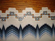 "21 крестик: Салфеточка ""Морозное утро"". Bargello Needlepoint, Bargello Quilts, Needlepoint Stitches, Needlework, Hardanger Embroidery, Embroidery Fabric, Embroidery Stitches, Embroidery Designs, Swedish Weaving"