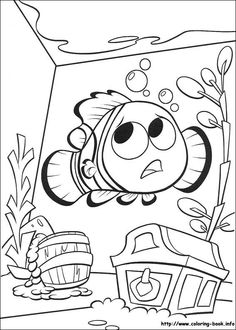 Finding Nemo coloring picture                                                                                                                                                      Mais