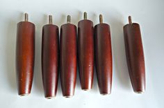 6 Vintage Danish Modern Furniture Legs  Tapered  Lot L by treasurecoveally on Etsy