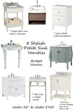 Bon Stylish Budget Vanities For The Petite Bathroom   Design ManifestDesign  Manifest