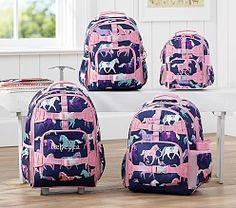 Mackenzie Navy Horse Luggage | Pottery Barn Kids