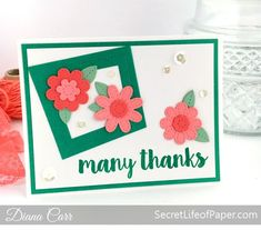Stitched Flowers, Wonky Windows & Many Thanks: MFT Challenge | Secret Life of Paper