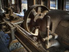 Abandoned Machine Shop: The American Tool Works Company Lathe.
