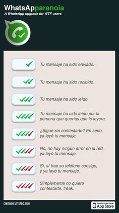 La locura del doble check del Whatsapp