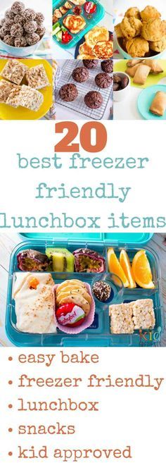 20 of the best freezer friendly lunchbox items! All in one place, no need to search. Don't go back to school without these easy recipes in your freezer. Make lunches quicker and easier with these kid approved freezer friendly recipes! via @kidgredients