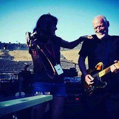Polly Samson and David Gilmour Pompéi 2016