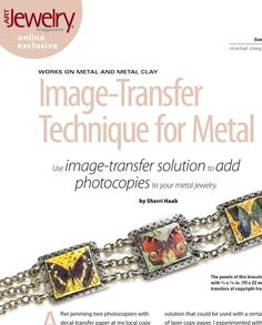 #ClippedOnIssuu from ArtJewelry Image Transfer to Metal
