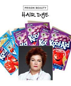 Kool-Aid - the most cost effective temporary hair dye. Cheaper and easier than chalk Diy Beauty Nails, Hair Beauty, Beauty Secrets, Beauty Hacks, Black Hair Dye, Temporary Hair Dye, Diy Lotion, Essential Oils For Hair, Diy Hair Care