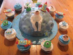 Astronaut themed cake