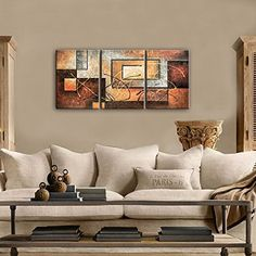 Phoenix Decor-Abstract Canvas Wall Art Paintings on Canvas for Wall Decoration Modern Painting Wall Decor Stretched and Framed Ready to Hang 3 Piece Canvas Art - Store Online for Your Live and Style 3 Piece Canvas Art, Abstract Canvas Wall Art, Wall Canvas, Decoracion Low Cost, Living Room Art, Modern Wall Art, Decoration, Art Paintings, Wall Decor