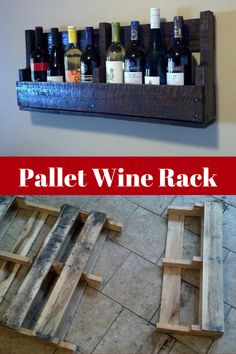 Free pallet turned into a hanging wine rack! Farmhouse Wine Racks, Rustic Wine Racks, Hanging Wine Rack, Wine Rack Wall, Wine Bottle Wall, Bottle Rack, Pallet Wine Rack Diy, Wine Rack From Pallets, Modern Wine Rack