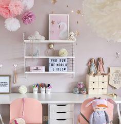 Girls Room Design, Bedroom Decor For Teen Girls, Desk For Girls Room, Study Corner, Little Girl Rooms, Kids Room, Scandinavian Style, Scandinavian Interior Kids, Decoration