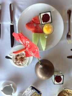 Tropical breakfast at Napasai resort, Koh Samui, Thailand