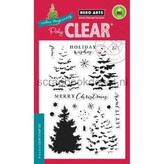HeroArts Clear stamps 4x6inch Color Layering Christmas Tree