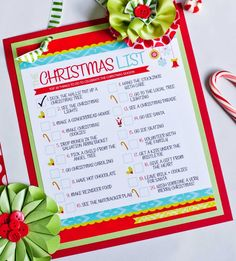 Christmas To Do List {Free Printable} This fun printable to do list is full of cute activities to do with kids while they are home for Christmas break. Keep everyone busy and in the Christmas spirit with these family themed holiday ideas. Also could be made into a holiday menu sent to those invited.