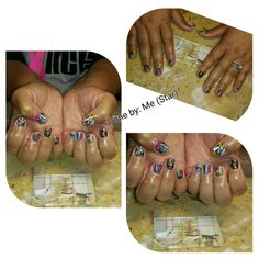 Abstract nails design in Mood gel color