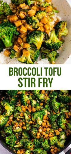 Broccoil tofu stir fry – so easy and tastes amazing! #broccoli #tofu #stirfry #stirfrysauce #vegan #dinner #dinnerrecipe #stirfryrecipe #tofubroccoli #garlictofu