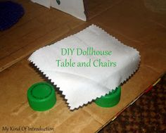 DIY Dollhouse Table and Chairs