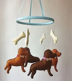 puppy mobile-baby crib mobile-baby mobile-nursery by ZooToys