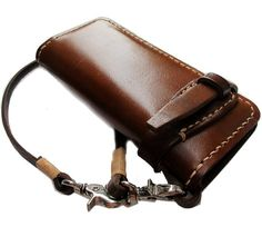 BIKER / TRUCKER GENUINE COW LEATHER CLUTCH WALLET: Amazon.co.uk: Shoes & Bags