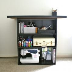 A tutorial to (easily) create a crafting table or kitchen island for as little as $5.99.