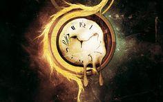 Melting clock wallpaper