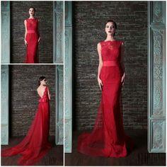 Vestido Renda Free Shipping Sheath Elegant Lace Dresses Evening Long Dress Sexy Red Evening Dress Cap Sleeve Vestidos Formales