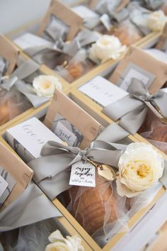 Why not treat yourself to breakfast in bed? Marigold & Grey custom designed gift boxes to help welcome your wedding guest! photos by: Abby Jiu Photography