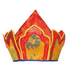 Tibetan Buddhist Monk's Hat for Rituals.