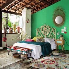 .maison du monde 199.90 Mobile fondoletto multicolore ricamato in cotone L 119 cm