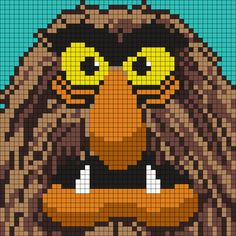 Sweetums From The Muppets Perler Bead Pattern / Bead Sprite