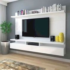 Wall mounted tv unit with storage wall unit with shelves chic and modern mount ideas for . wall mounted tv unit with storage Wall Mount Tv Shelf, Tv Wall Shelves, Wall Mounted Tv Unit, Wall Mount Tv Stand, Tv Stand Shelves, Wall Units, Mounted Shelves, Wall Tv, Shelving Units