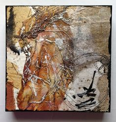 title unknown ~ encaustic and mixed media ~ by wen redmond