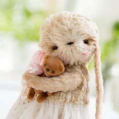 Jenny rabbit and Little bear by http://lusya-sib.blogspot.fr