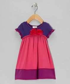 Take a look at this Fuchsia & Purple Bouquet Dress - Toddler & Girls by Vanilla Crème on #zulily today!