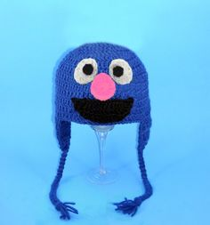Grover Earflap Hat From Sesame Street