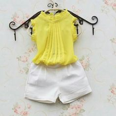 2016 New Summer Baby Clothes kids clothes fashion Lace chiffon vest children blu 32565 Baby Girl Fashion, Kids Fashion, Fashion Outfits, Little Girl Dresses, Girls Dresses, Baby Dress Design, Kids Frocks, Girls Blouse, Kids Wear